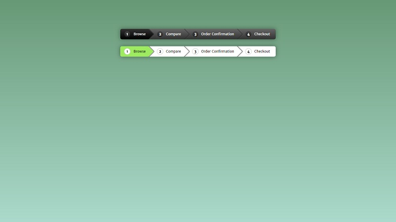Pure CSS3 breadcrumb navigation
