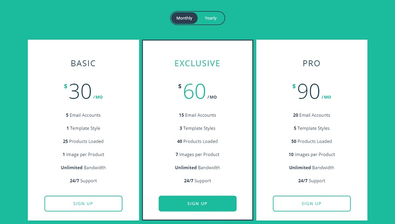 Responsive Flip Pricing Table