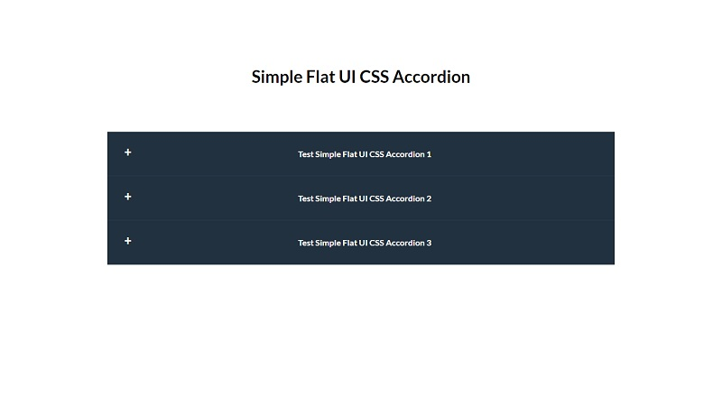 Simple Flat UI CSS Accordion