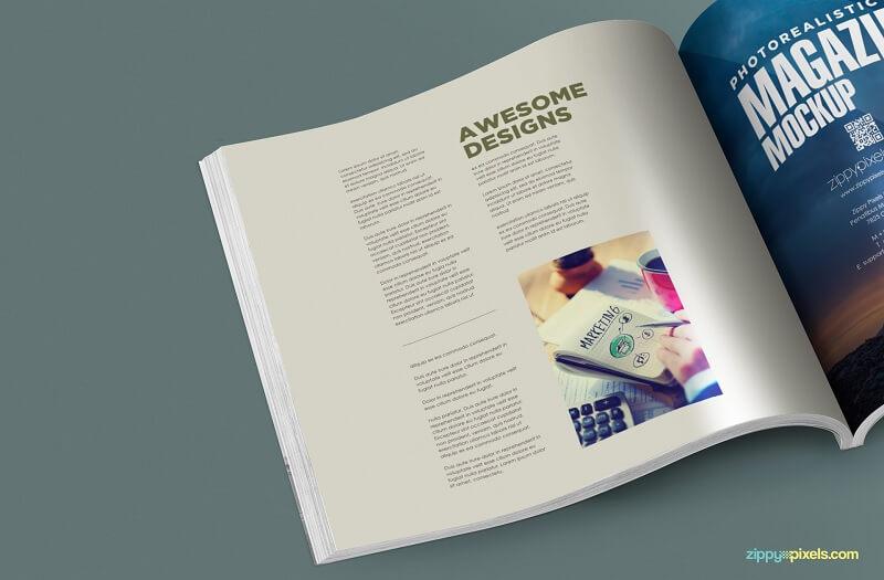 Square PSD Magazine