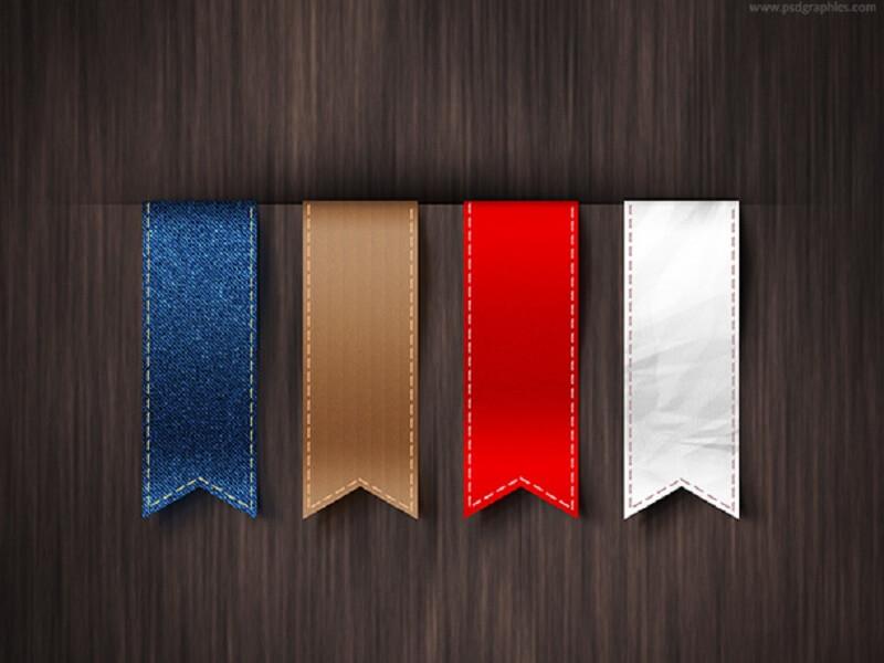 Vertical ribbons template