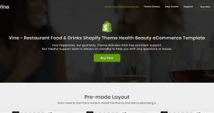 Restaurant Shopify Website Templates