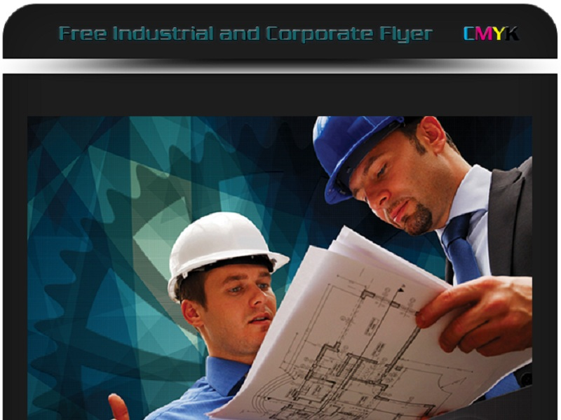 free industrial corporate flyer psd