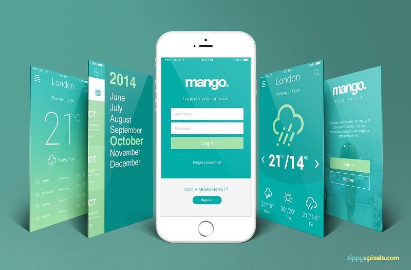 iPhone Perspective App Screen