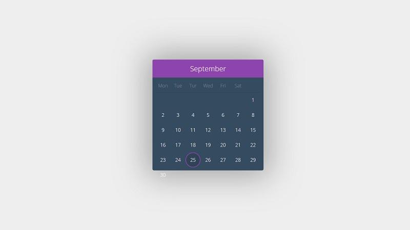 Almost no JS Calendar