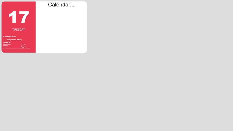 CSS Calendar Mockup