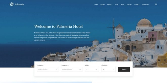 10+Best Free Hotel WordPress Themes 2019