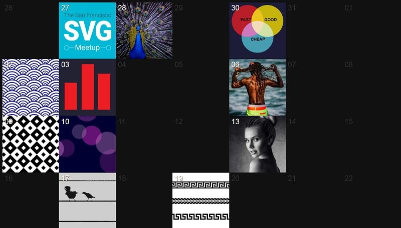 Responsive Flexbox Calendar w/ Retina Images