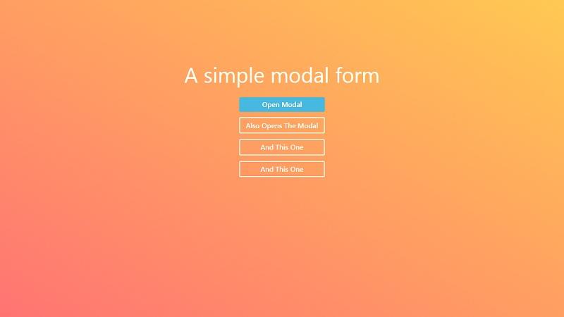 A Simple Modal Form