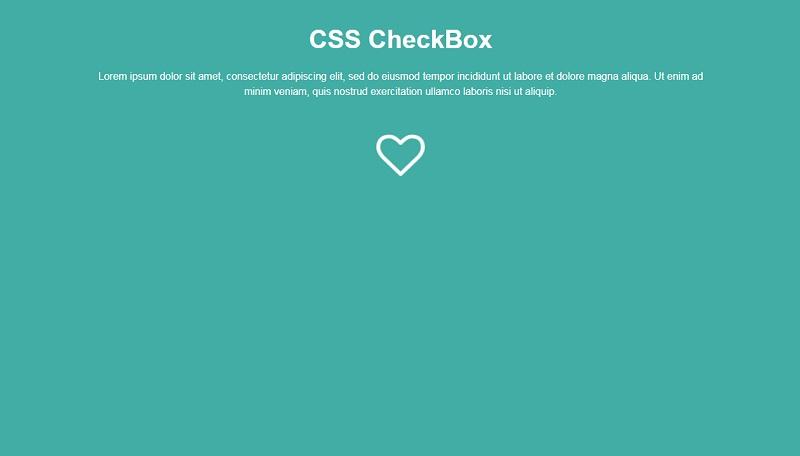 CSS CheckBox