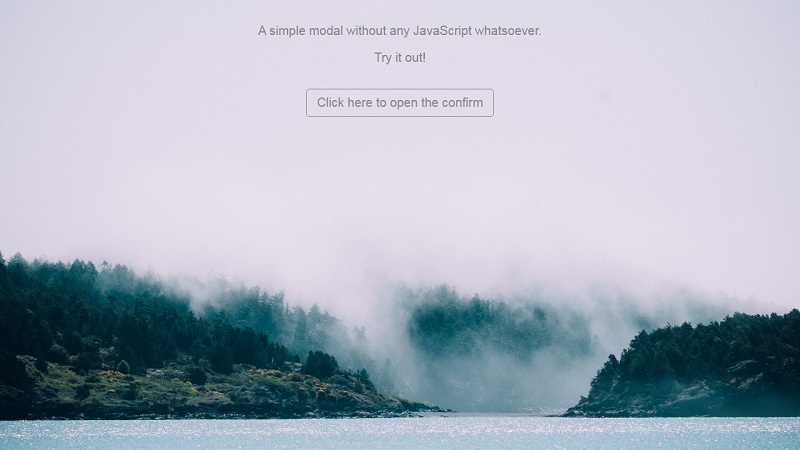 CSS Only Modal