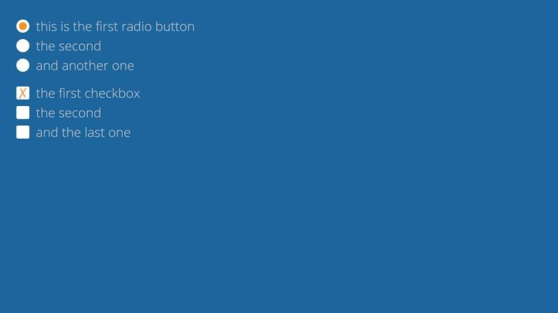 Custom checkbox, radio button w/ css