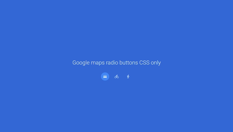 Google maps radio buttons CSS only