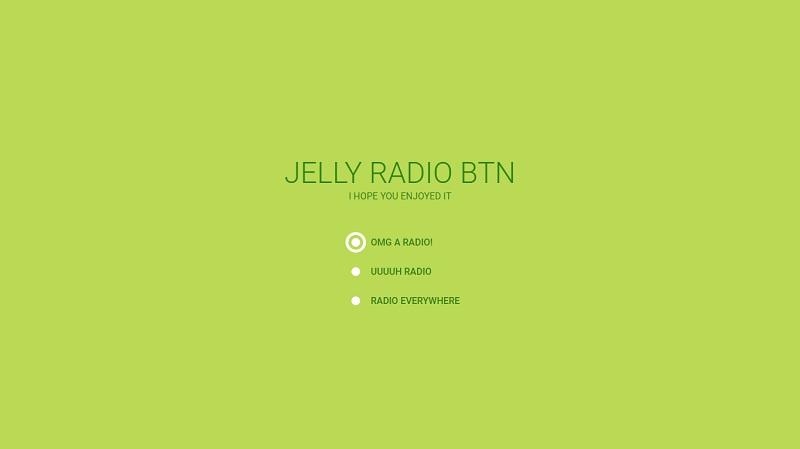 Jelly Radio Button