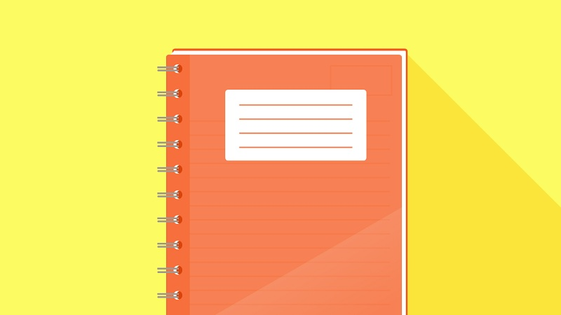 Notepad Style with CSS