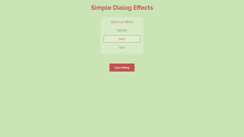 Simple Dialog Effects