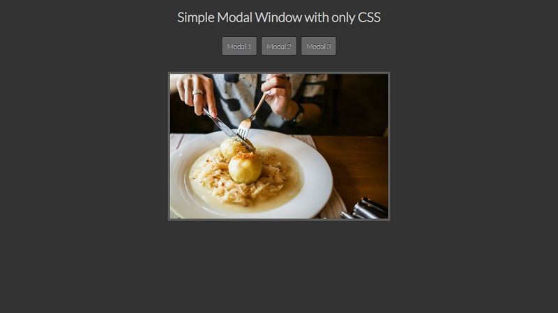 Simple Modal Window With Only CSS