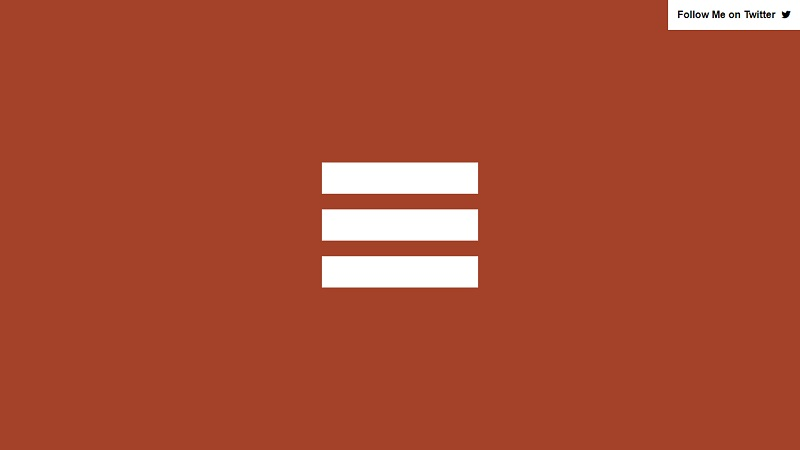 Simple Pure CSS Animated Hamburger Menu Icon