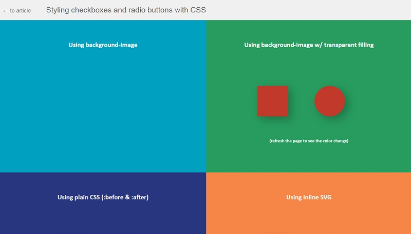 Styling checkboxes and radio buttons with CSS