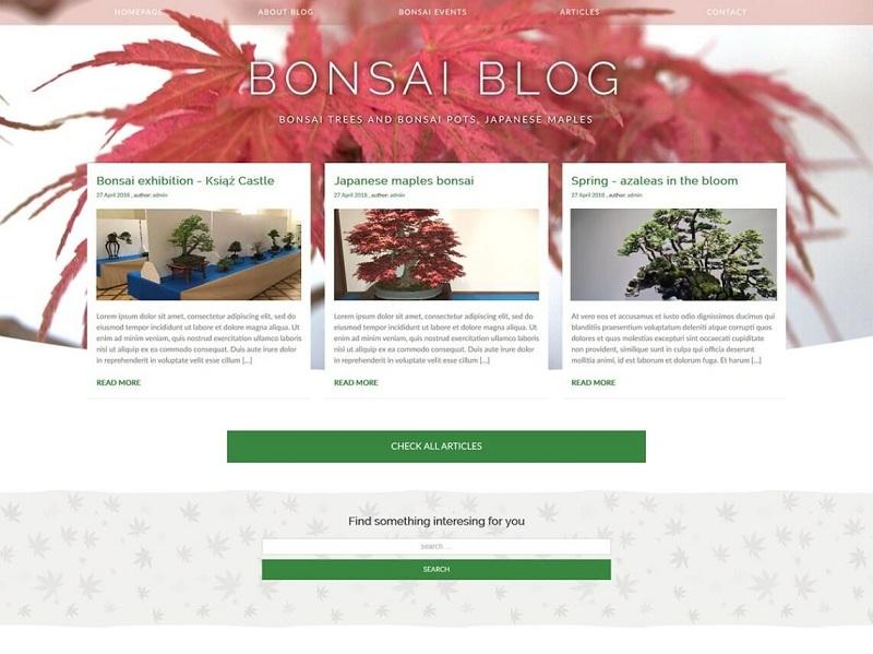 Bonsai blog