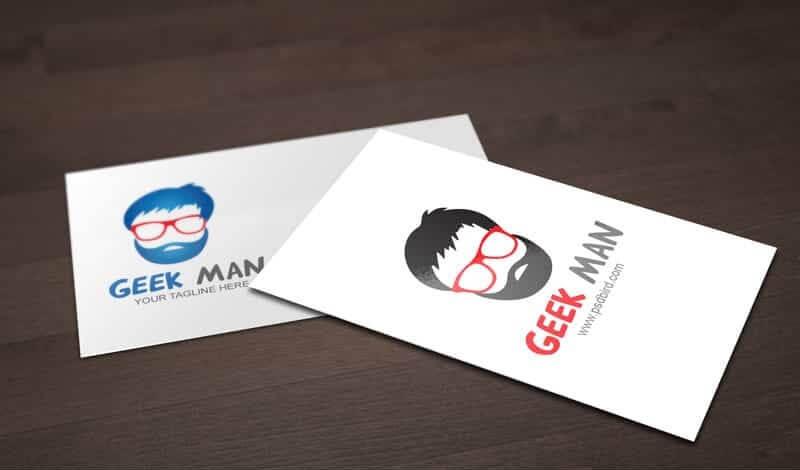 Nerd Geek Man Logo