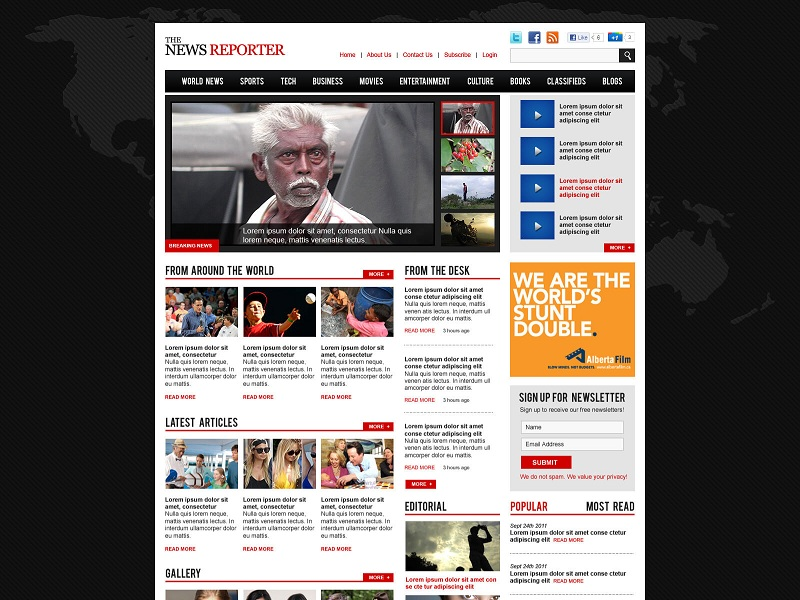 WP magazine theme template