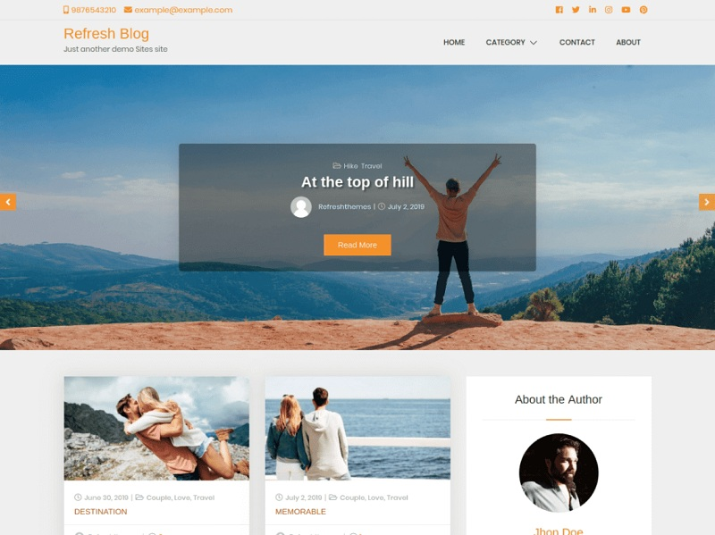Refresh Blog
