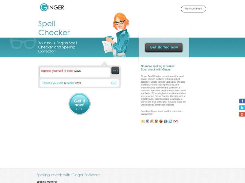 Ginger Spell Checker